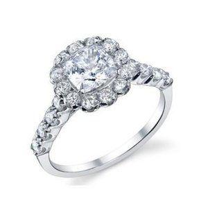 Jewelry - 3.50 ct Cushion and round cut diamonds anniversary
